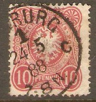 Germany 1880 10pf Rose. SG41.