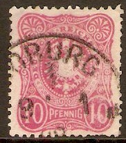 Germany 1880 10pf Carmine. SG41b.