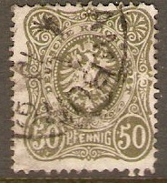 Germany 1880 50pf Grey-olive. SG44.