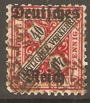 Germany 1920 40pf Wurttemberg Official series. SGO165.