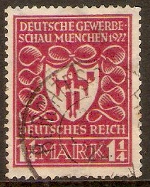 Germany 1922 1¼m Lake - Munich Exhibition series. SG198.