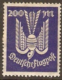 Germany 1923 200m Violet-blue. SG273.