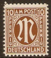 Germany 1945 10pf Chocolate - Allied Occ. series. SGA6.