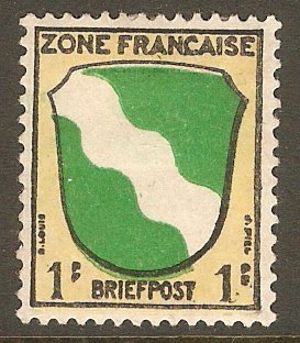 French Zone 1945 1pf Arms series. SGF1