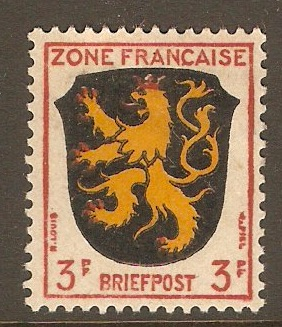 French Zone 1945 3pf Arms series. SGF2