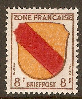 French Zone 1945 8pf Arms series. SGF4.