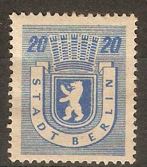 Russian Zone 1945 20pf Blue. SGRA6.