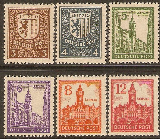 Germany 1946 West Saxony Set. SGRD37-SGRD42.