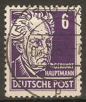 Germany 1948 6pf Violet - Portraits Series. SGR34