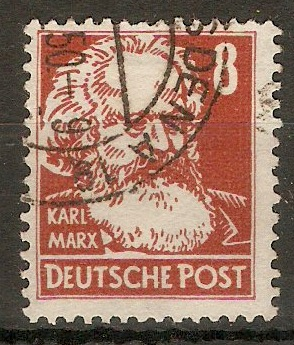 Germany 1948 8pf Brown-red - Portraits Series. SGR35