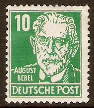 Germany 1948 10pf Bluish green - Portraits Series. SGR36