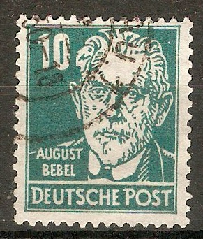 Germany 1948 10pf Bluish green - Portraits Series. SGR36.