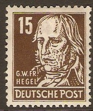 Germany 1948 15pf Brown - Portraits Series. SGR38