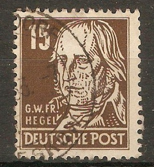 Germany 1948 15pf Brown - Portraits Series. SGR38.