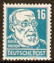 Germany 1948 16pf Greenish blue - Portraits Series. SGR39