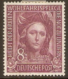 Germany 1949 8pf +2pf Refugee Relief series. SG1039.