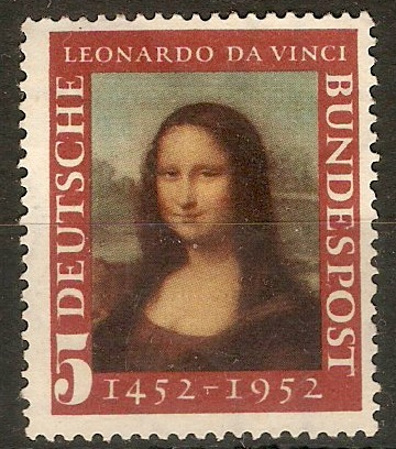 Germany 1951 5pf Leonardo Commemoration. SG1074.
