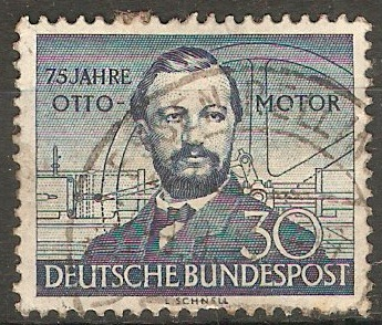 Germany 1952 30pf Deep blue - Otto Gas Engine. SG1076.
