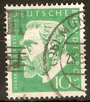Germany 1955 10pf Von Miller Commemoration. SG1135.
