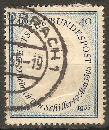 Germany 1955 40pf Schiller Commemoration. SG1136.
