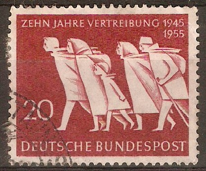 Germany 1955 20pf Expulsion Anniversary stamp. SG1141.