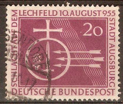Germany 1955 20pf Battle of Lechfeld Anniversary. SG1142.