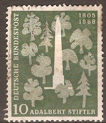 Germany 1955 10pf Stifter Commemoration. SG1146.
