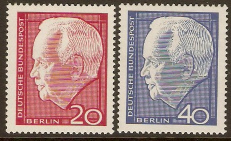West Berlin 1964 President Lubke Re-election. SGB228-SGB229.