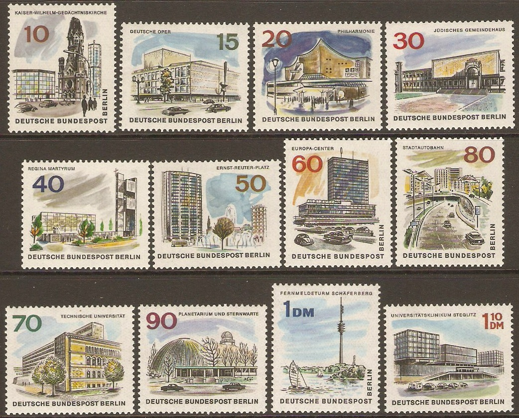 West Berlin 1965 New Berlin Set. SGB265-SGB276.