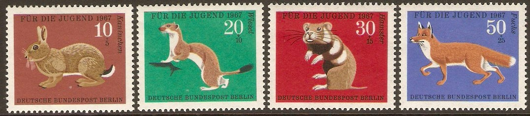 West Berlin 1967 Child Welfare Set. SGB293-SGB296.