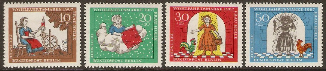 West Berlin 1967 Humanitarian Relief Set. SGB304-SGB307.