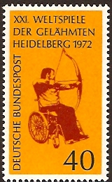 Germany 1972 Disabled Games Stamp. SG1626.