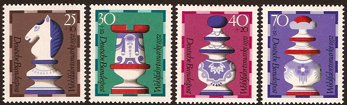 Germany 1972 Chessmen Set. SG1636-SG1639.