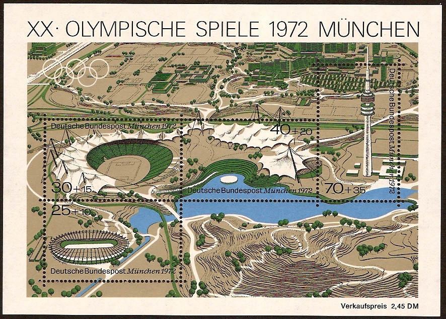 Germany 1972 Olympic Games Sheet. SGMS1625.