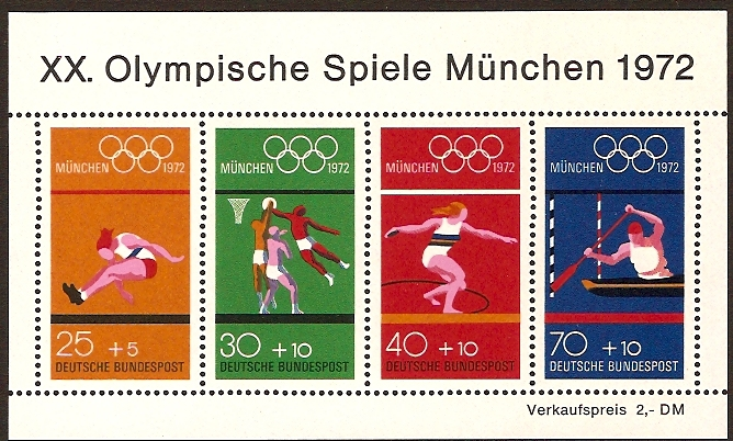 Germany 1972 Olympic Games Sheet. SGMS1633.