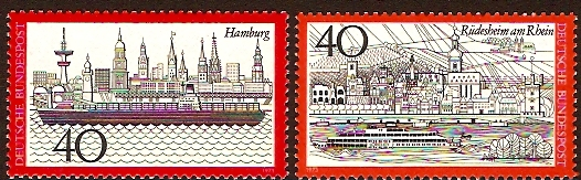 Germany 1973 Tourism Set. SG1655-SG1656.