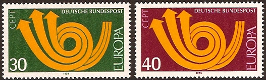 Germany 1973 Europa Stamps. SG1661-SG1662.