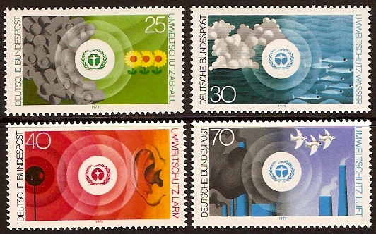 Germany 1973 Environment Set. SG1666-SG1669.
