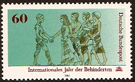 Germany 1981 Disabled Year Stamp. SG1947.