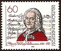 Germany 1981 Telemann Commemoration. SG1949.