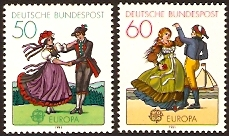 Germany 1981 Europa Stamps. SG1960-SG1961.