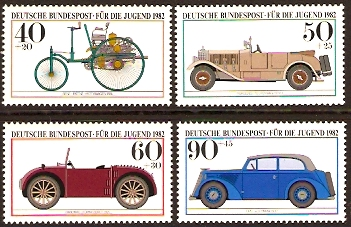 Germany 1982 Motor Cars Set. SG1987-SG1990.