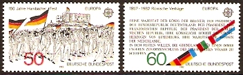 Germany 1982 Europa Stamps. SG1994-SG1995.