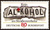 Germany 1982 Anti Drink and Drive Stamp. SG1999.