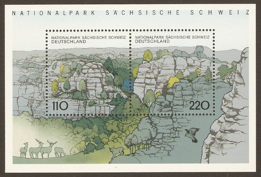 Germany 1998 Saxon SwissNational Park Sheet. SGMS2860.