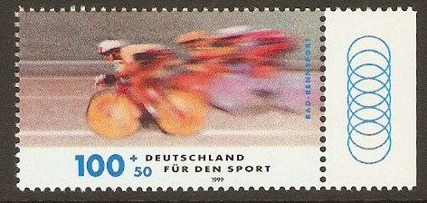 Germany 1999 100pf +50pf Cycle Racing Stamp. SG2886.