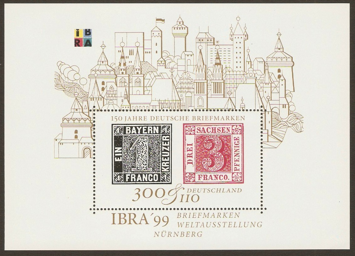 Germany 1999 IBRA'99 Stamp Exhibition Sheet. SGMS2900.