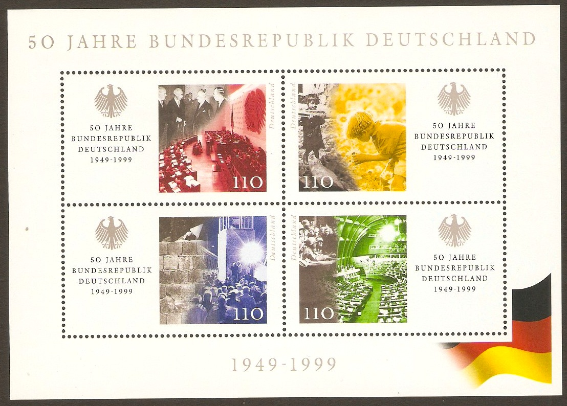 Germany 1999 Republic Anniversary Sheet. SGMS2906.