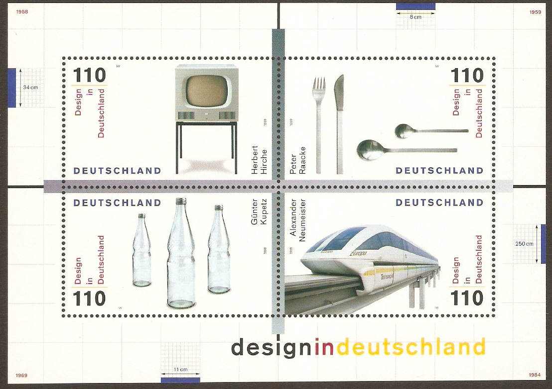 Germany 1999 Contemporary Design (2nd series) Sheet. SGMS2922.