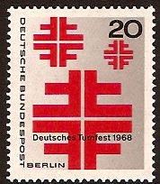 West Berlin 1968 Athletics Stamp. SGB315.